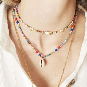 kralenketting-schelp-rainbow-mix-44cm