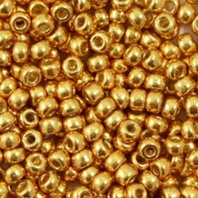 Miyuki rocailles 8/0 (3mm) 5 gram duracoat galvanized yellow gold