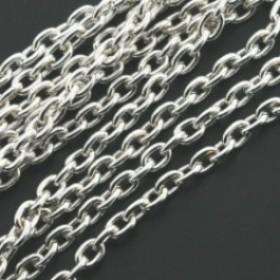 Dq jasseron ovalen schakel 2x3mm zilver per meter