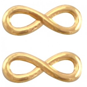 Bedel tussenzetsel DQ infinity 15x6mm goud