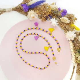 diy-pakket-kralen-zonnebrilkoord-yellow-purple-mix