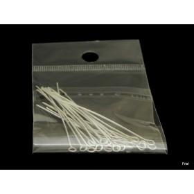 Kettelstift 5cm zilver zakje 20 stuks