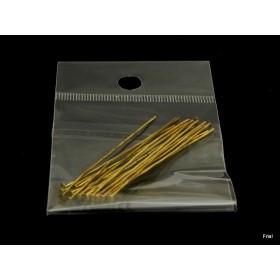 Nietstift  5cm goud zakje 20 stuks