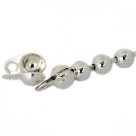 Kalot voor bolletjesketting 2mm zilver 10 stuks
