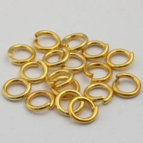 Buigring goud zakje 15 stuks 8mm