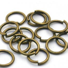 Buigring brons zakje 15 stuks 8mm