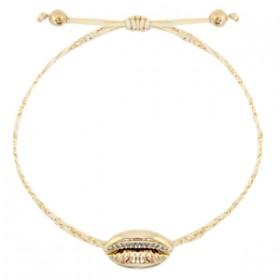 armbandje-gevlochten-sand-beige-gold-kauri-schelp-goud