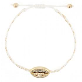 armbandje-gevlochten-white-gold-kauri-schelp-goud