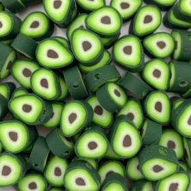 Avocado kraal groen 11mm (per stuk)