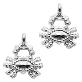 Bedel crab 15x17mm zilver