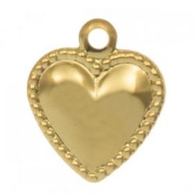 Bedel hart stainless steel goud 10x8mm