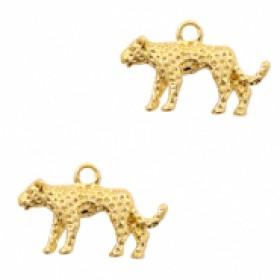 Bedel luipaard 24x15mm goud