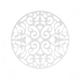 Bohemian bedel tussenzetsel rond 23mm zilver