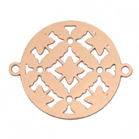 Bohemian tussenzetsel / bedel rond 20mm rosegold
