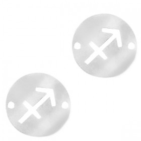 bedel-tussenzetsel-sterrenbeeld-boogschutter-zilver-stainless-steel-12mm
