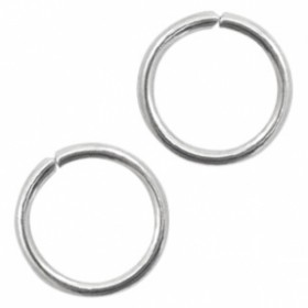 Buigring stainless steel 8mm zilver (per stuk)
