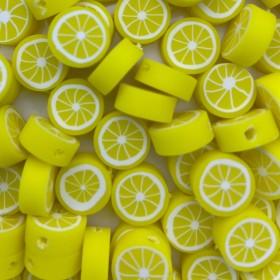 Citroen kraal geel 11mm (per stuk)
