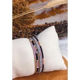 DIY pakket armbanden set champaign gold black pink