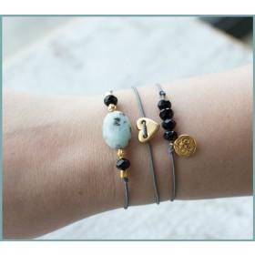 DIY pakket armbanden set Gold black armcandy