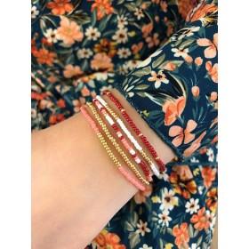 DIY pakket armbanden set red mix goud
