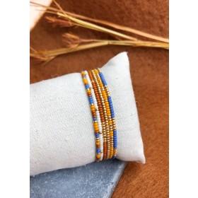 DIY pakket armbanden set soft blue orange
