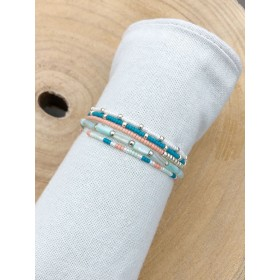 DIY pakket armbanden set underwater blue turquoise shell beads