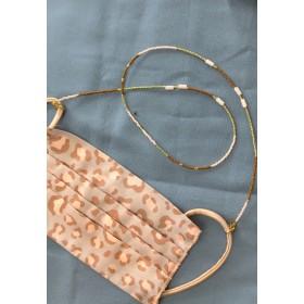 DIY pakket kralen mondkapjes-koordje pink green brown