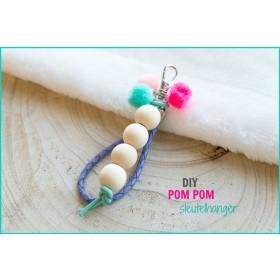 DIY pakket pompom sleutelhanger