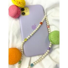 DIY pakket telefoonkoordje smiley pearl
