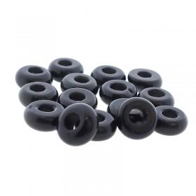 donut-edelsteen-kraal-zwarte-agaat-10-5mm