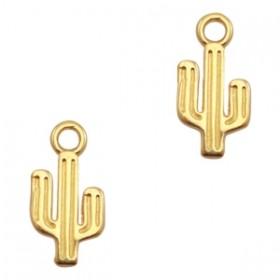 DQ bedel cactus 15x7mm goud
