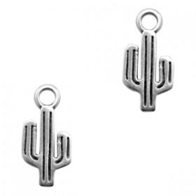 DQ bedel cactus 15x7mm zilver