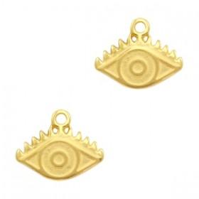 DQ bedel eye 14x11mm goud