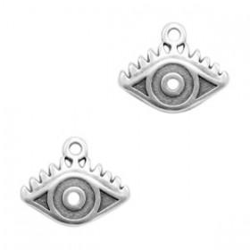 DQ bedel eye 14x11mm zilver