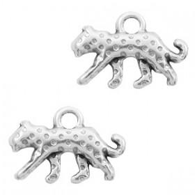 DQ bedel luipaard 15x10mm zilver