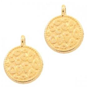 DQ bedel rond luipaard print goud 12mm