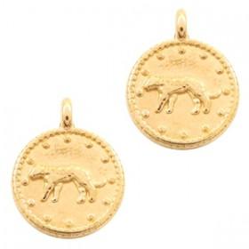 DQ bedel rond luipaard goud 12mm