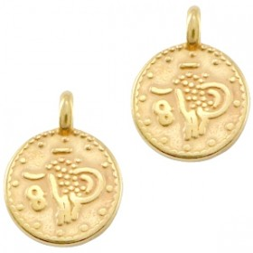 DQ bedel muntje 9.5x7.5mm goud