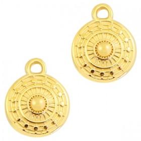 DQ bedel rond 11x9mm goud