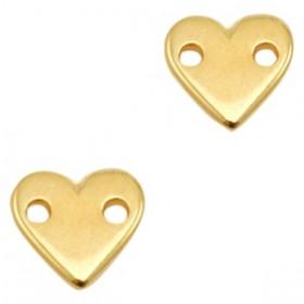 DQ bedel rond hart 11x10mm goud