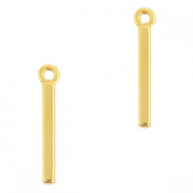 DQ bedel staaf goud 20x4mm