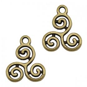 DQ bedel swirls 16x13mm brons