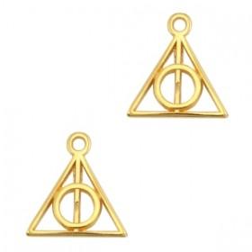 DQ bedel triangle pendant 13x12mm goud