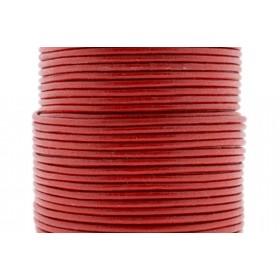 DQ leer rond 2mm helder rood 1 meter
