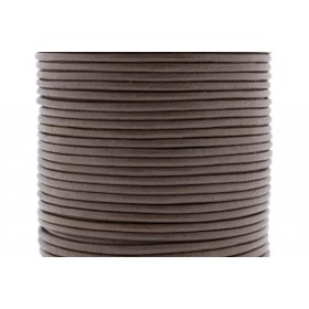 DQ leer rond 2mm taupe 1 meter