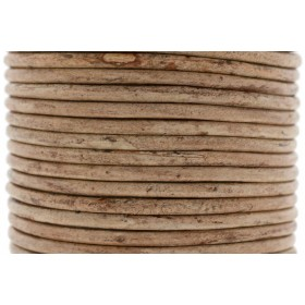 DQ leer rond 2mm vintage brown 1 meter