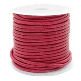 DQ leer rond 2mm vintage red 1 meter
