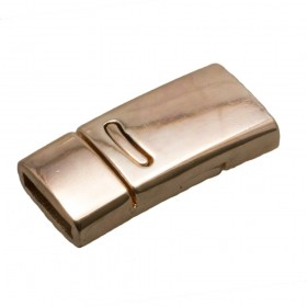 DQ magneetslot 27x13mm rose gold (voor 10mm plat leer / koord)