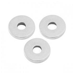 DQ metalen disc rondellen 6x1mm Antiek zilver (nikkelvrij)