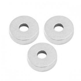 DQ metalen disc rondellen 6x2mm Antiek zilver (nikkelvrij)